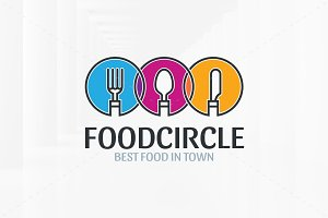 Food Circle Logo Template