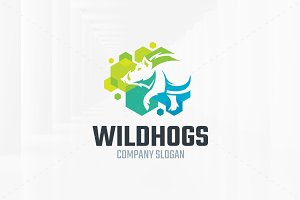 Wild Hogs Logo Template