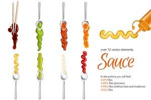 Sale! Realistic Sauce Set