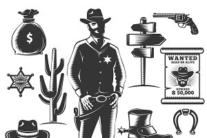 Sheriff Icon Set