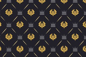 Royal background pattern