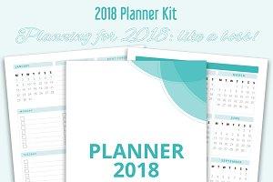 Printable Planner Kit for 2018