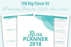 Printable Blog Planner Kit for 2018
