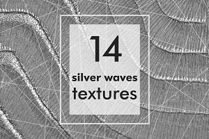 Silver waves texture backgrounds