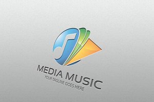 media music – Logo Template