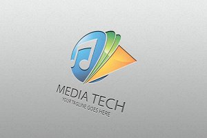 media tech – Logo Template