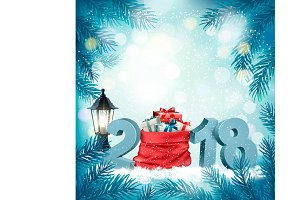 Christmas holiday background with 20