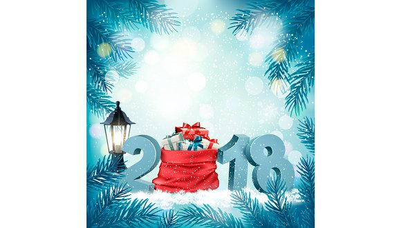 Christmas holiday background with 20 in Illustrations