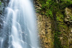 waterfall in the green forest
