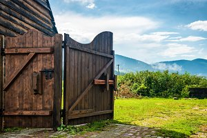 Rural wooden gate