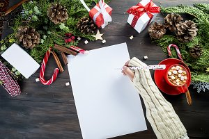 Little girl writes letter to Santa C