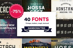 Quill Font Collection | 40 FONTS