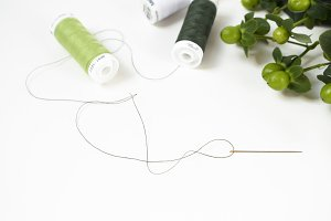 Sewing | Green Thread
