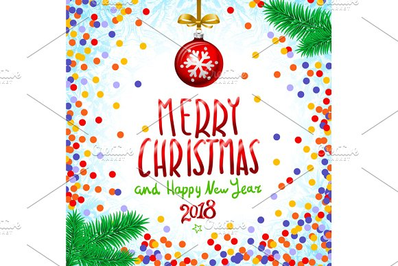 red merry christmas happy new year graphics - Merry Christmas And Happy New Year Clip Art