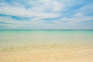 beautiful clear beach