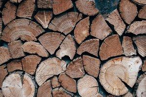 Rustic Faux Woodpile Door