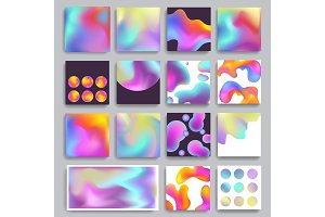 Hologram texture background gradient modern abstract vector blurred colors wallpaper design holographic effect