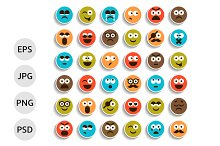 Set of Smiles Icons, Emoticons
