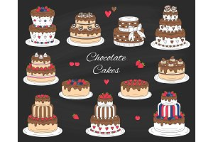 Chocolate Cakes Set