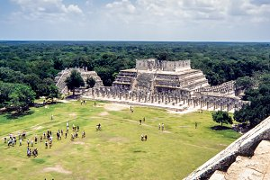Temple of the Warriors. Chichen-Itza