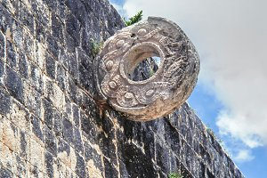 Stone ring Chichen Itza, Mexico.