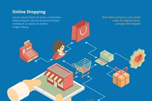 Online shopping infographics