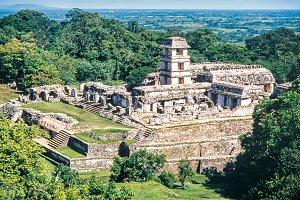 mayan ruins of Palenque. Chiapas