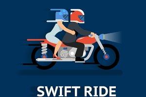 Cartooned Swift Ride