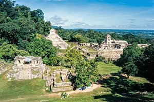 Mayan ruins in Palenque, Chiapas