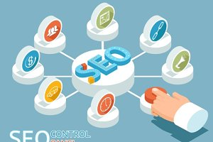 SEO control panel concept