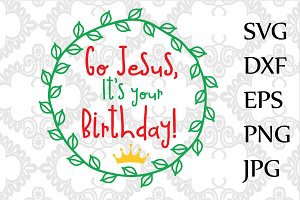 Jesus birthday SVG