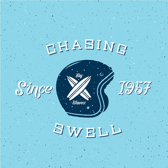 Vintage Surfing Labels/Logos Set