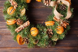 Christmas aromatic wreath