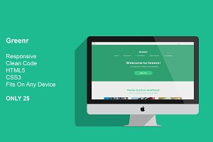 Greenr - Responsive HTML5 Template
