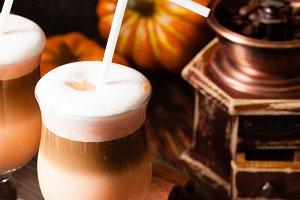 Delicious pumpkin spicy latte