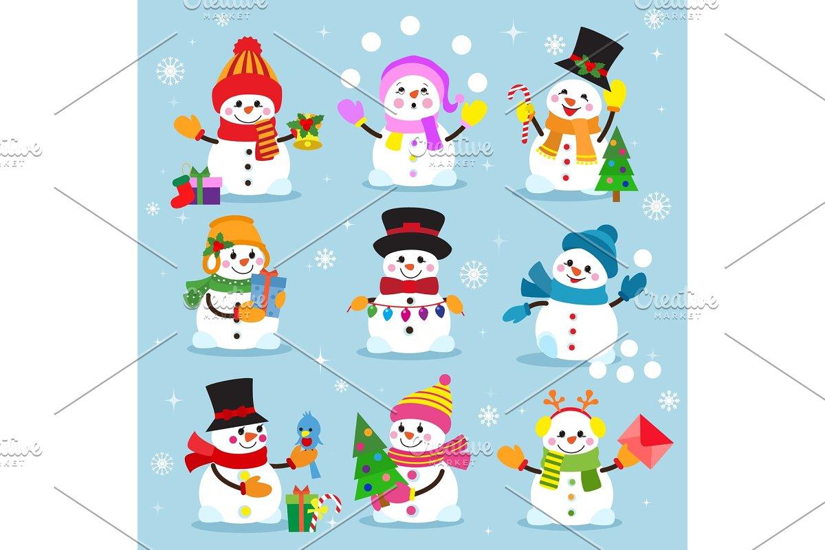 f500e97baeb5d Snowman cartoon winter christmas character holiday merry xmas snow ...