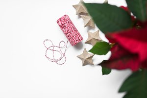 Wraping cord with christmas flower