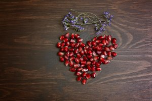 Pomegranate heart