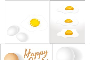 Happy Easter Eggs Backgrounds