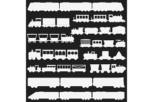 Toy train vector illustration black and white