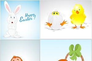 Easter Graphics Vector Illustrations
