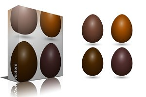 Chocolate Eggs Vectors