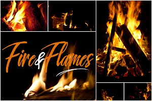 10+ Fire & Flames Backgrounds