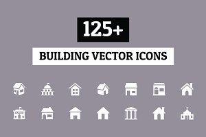 125+ Building Vector Icons
