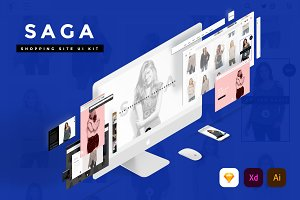 SAGA Creative Shopping site UI Kit