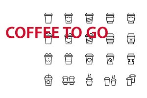 20 Coffee to go UI icons