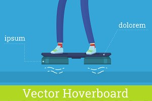 Vector Hover board illustration