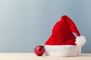 Santa Claus hat and bauble