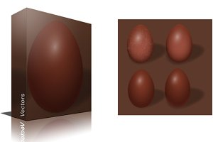 Easter Choco Eggs Vector Set