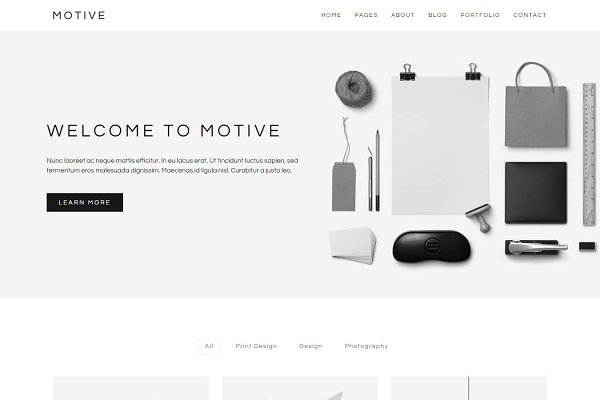 HTML/CSS Themes: Lucid Themes - Motive - Minimal Portfolio Template